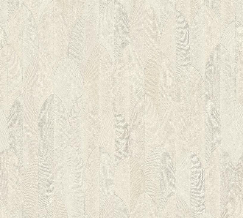 Flizelino pagrindo tapetas As Creation 373731 Sumatra, šviesiai pilkas su plunksnomis