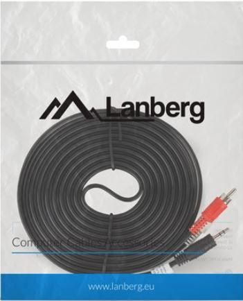 Lanberg Cable 3.5mm / RCA x2 5m