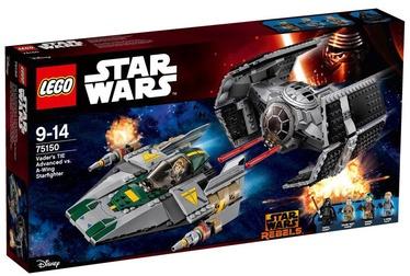 LEGO Star Wars Vader's TIE Advanced VS A-Wing Starfighter 75150