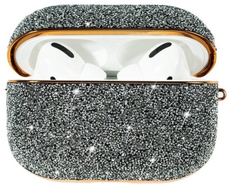 Kingxbar Crystal Fabric Shiny Glitter Case For AirPods AirPods Pro Silver