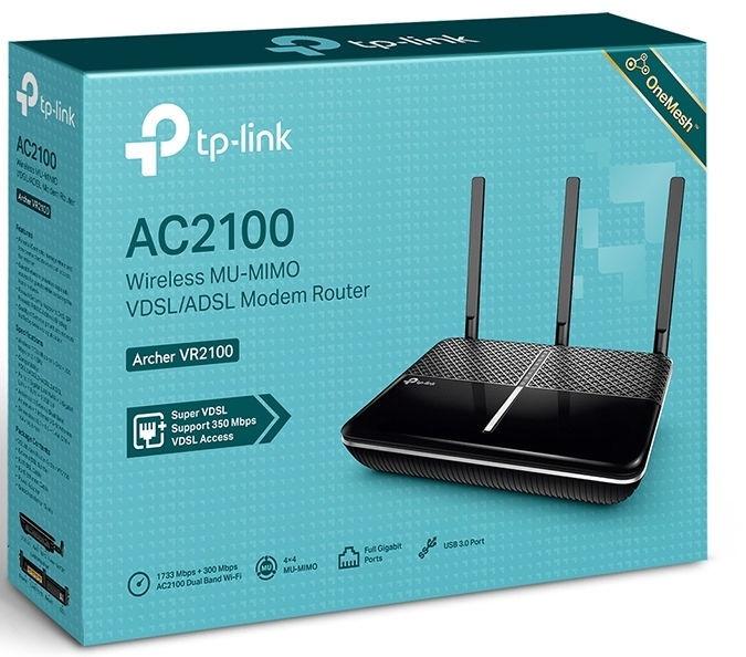 DSL modemas TP-Link Archer VR2100
