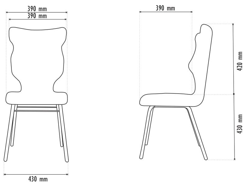 Детский стул Entelo Solo Size 5 VS09, красный/серый, 390 мм x 850 мм