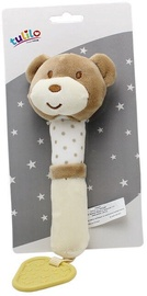 Axiom New Baby Plush Toy With Sound And Teether Teddy Bear 17cm