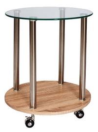 Kohvilaud Signal Meble Carla Sonoma Oak, 500x500x550 mm