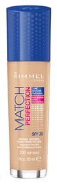 Rimmel London Match Perfection Foundation SPF20 30ml 200