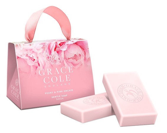 Grace Cole Soap 2 x 75g Peony & Pink Orchid