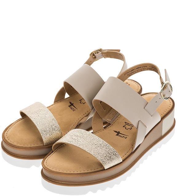 Basutės Tamaris Sandal 1-1-28226-22 Taupe Gold 41