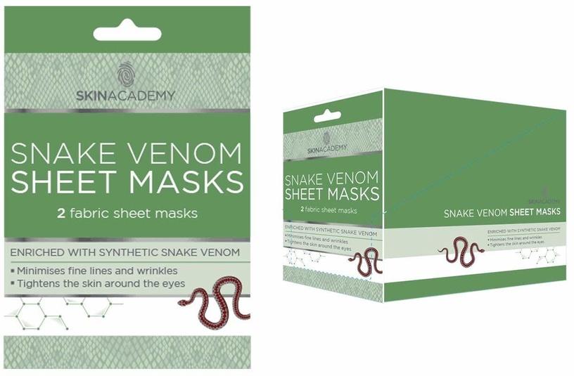 Skin Academy Snake Venom Sheet Mask 2pcs