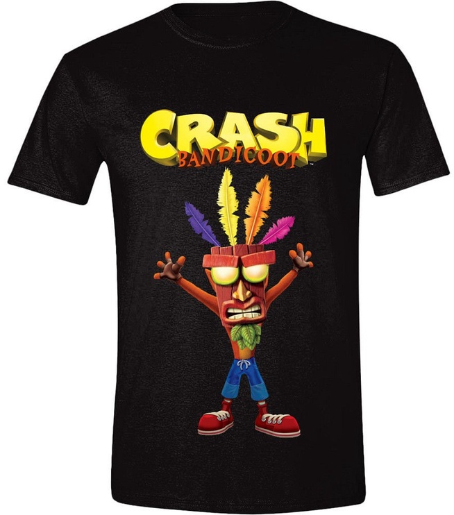 Licenced Crash Bandicoot Aku Aku T-Shirt Black S