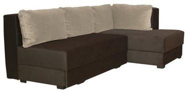 Bodzio Corner Sofa Judyta Right Dark Brown/Beige