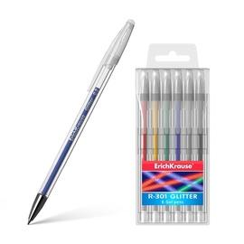 ErichKrause R-301 Glitter Gel Pen Original Gel 6pcs
