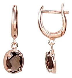 Diamond Sky Gold Earrings With Quartz Diana V