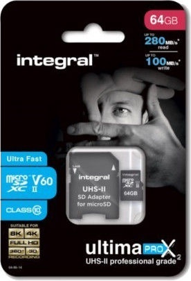 Integral UltimaPro X2 64GB MicroSDXC UHS-II