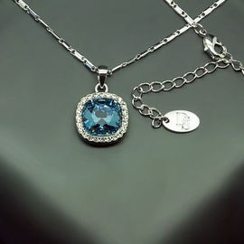 Diamond Sky Pendant Bella II Denim Blue With Swarovski Crystals