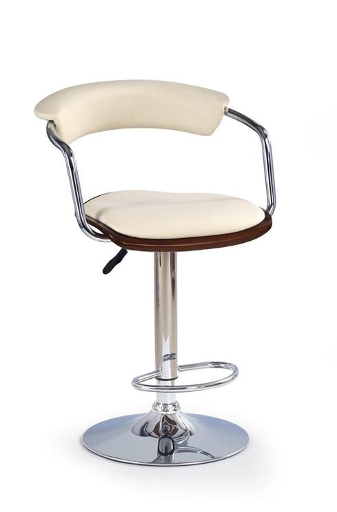 Baro kėdė H - 19, chromo - vyšninė