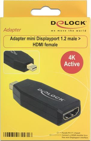 Delock Adapter Displayport-mini 1.2 to HDMI Black
