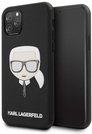 Karl Lagerfeld Iconic Embossed And Glitter Back Case For Apple iPhone 11 Pro Max Black