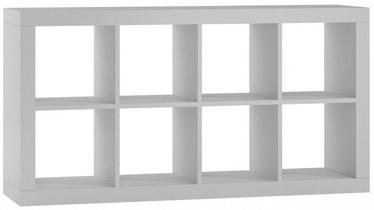 Top E Shop Kalax 2x4 Shelf Unit White