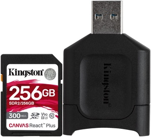 Kingston Canvas React Plus 256GB SDXC UHS-II Class 10 w/Adapter