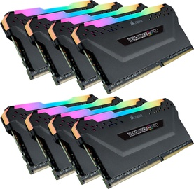Corsair Vengeance RGB PRO Black 64GB 2933MHz CL16 DDR4 KIT OF 8 CMW64GX4M8Z2933C16