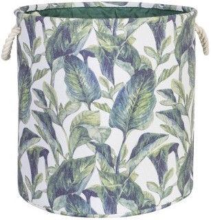 Home4you Tropic 1 Basket D40xH40cm Tropic Leaves 83591
