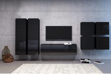 Vivaldi Meble Vivo 4 Furniture Set Black/Black Gloss