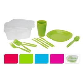 Plastikinis indų ir įrankių rinkinys, 21 vnt