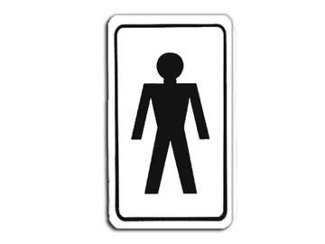 """Ženklas """"Vyrų tualetas"""", 70 x 120 mm"""