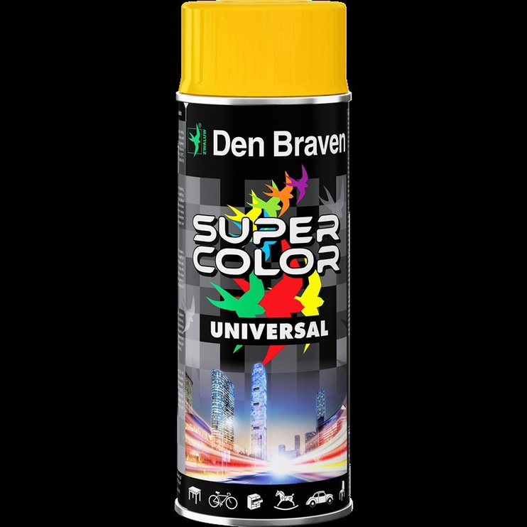 Aerosola krāsa Den Braven Universal, 400ml, tumši zaļa
