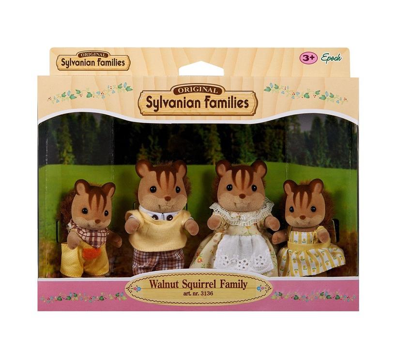 Žaislinė figūrėlė Epoch Sylvanian Families Walnut Squirrel Family 3136