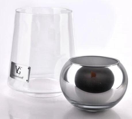 Свеча Mondex Cristie Candle With Cover Silver 26cm