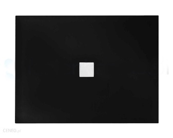 Dušo padėklas, stačiakampis, juodas NOX ULTRASLIM,110 x 90