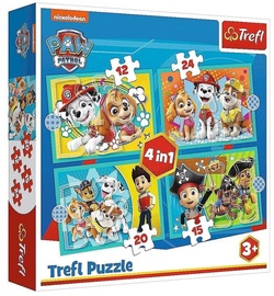 Trefl 4-in-1 Puzzle Paw Patrol 12/15/20/24/pcs 34346