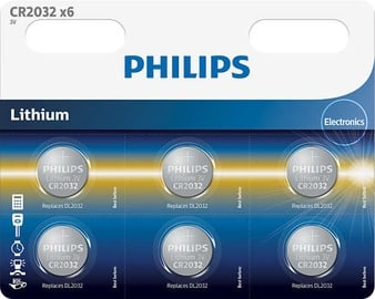 Philips CR2032 Batteries x6