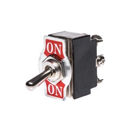 Control Switch KN3B-202 250V Silver/Black/Red