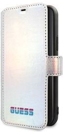 Guess Iridescent Book Case For Apple iPhone 11 Pro Max Silver