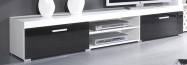 TV galds Cama Meble Samba, balta/melna, 2000x450x390 mm