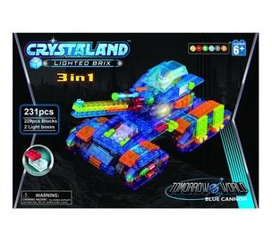 Konstruktor Crystaland, helendav tank, 3 in 1