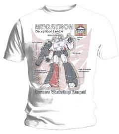 Haynes T-Shirt Transformers Megatron White S