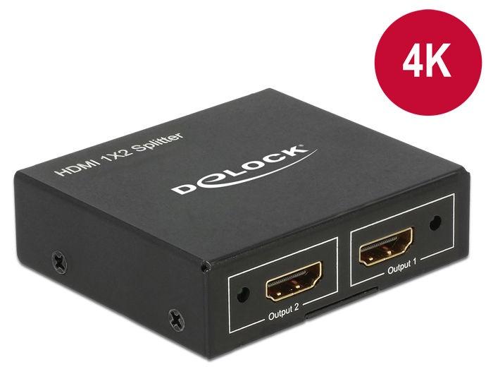 Delock HDMI Splitter 1xHDMI In to 2xHDMI Out 4K