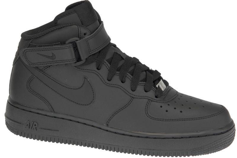 Nike Sneakers Air Force 1 MID Gs 314195-004 Black 38.5