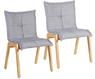 Home4you Razor Chair 2pcs Gray