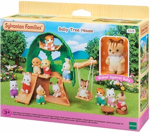 Epoch Sylvanian Families Baby Tree House With Walnut Squirrel Baby 5318