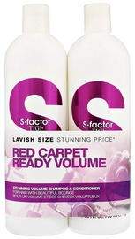 Tigi S Factor Stunning Volume Shampoo 750ml + S Factor Stunning Volume Conditioner 750ml