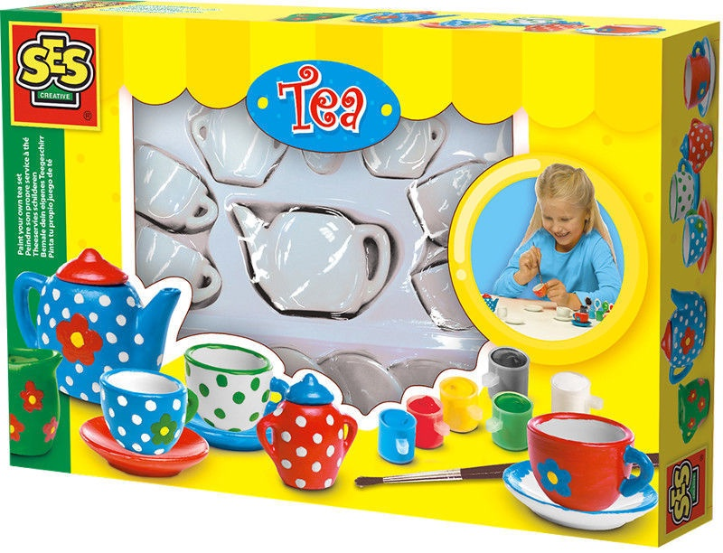 SES Creative Paint Your Own Tea Set 14976