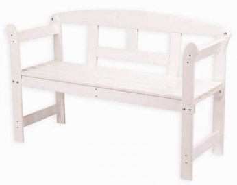 Folkland Timber Garden Bench Friiz White
