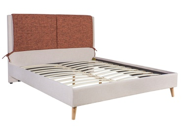 Cassidy Bed 160x200cm Orange/Beige