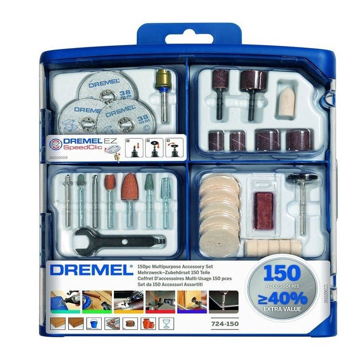 Dremel 724 Multipurpose Accessory Set 150pcs