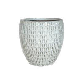 SN Ceramic Flower Pot IP17-788 D26cm White