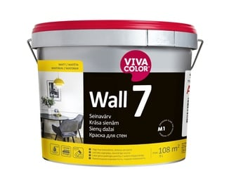 Akriliniai sienų dažai Vivacolor WALL 7 C, balti, 9L